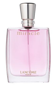 Lancôme 'Miracle' Eau de Parfum Spray...this was the first feminine perfume I fell in love with. Fresh smell of roses, not overpowering, subtly sweet yet sensuous.  I remember when it first came out...it's been well over 10 years, but I still wear it from time to time.  It's a fragrance I would recognize from miles away.