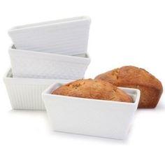Mini Loaf Pans, Set of 4 - white Porcelain - Assorted Texture Bia http://www.amazon.com/dp/B00F54K628/ref=cm_sw_r_pi_dp_5slKub1XJ1XJZ