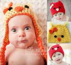 Check out this item in my Etsy shop https://www.etsy.com/listing/151352001/chick-or-bird-hat-made-to-order