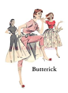 Vintage 1950s Butterick 7606 Grease Inspired by pinkpolkadotbutton, $50.00