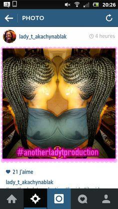 Ghana braids on ponytail