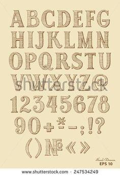 Hand Drawn Font On Vintage Paper