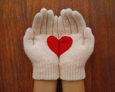 Guantes corazón <3