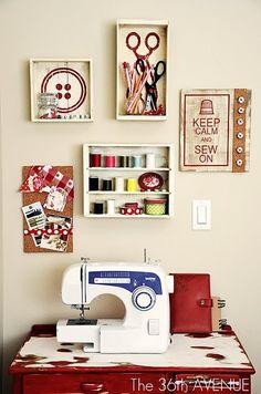 Fun sewing area