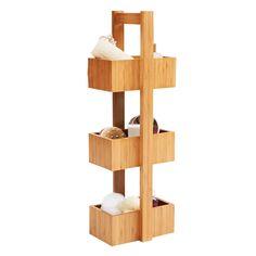 Wilko Storage Free Standing Bamboo