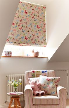 Our Butterflies Multi Roman blind is available with a blackout lining, perfect for bedrooms. The pretty fabric will make an impact anywhere in the home, but is particularly perfect for a little girl's bedroom or playroom. It makes our heart flutter!
