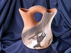 "American Navajo Etched Wedding Vase 5.5"""" -Petroglyphs (92)"