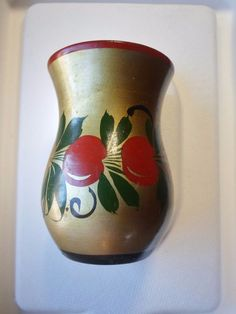 Vintage Laquered Russian Vase