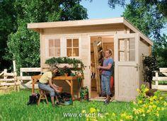 Féltetős kerti szerszámosház, féltetős faház | e-kert - minden ami kert | kerti házak, nyitott garázs, kerti bútor, szauna, kerti medence, WEKA