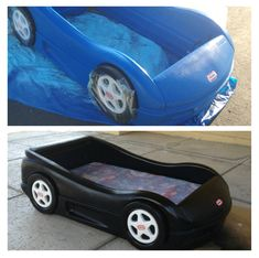 Spray Painting A Plastic Little Tykes Car Bed Success