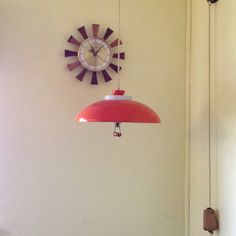 Mid Century Lamp   Danish Modern Clock