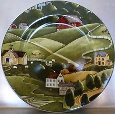 SAKURA PLATE PLEASANT VALLEY SHEEP ONEIDA DAVID CARTER BROWN DINNERWARE