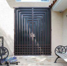 Wrought Iron Double Security Screen Door