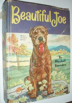 Beautiful Joe was a dog from the town of Meaford, Ontario, whose story inspired the bestselling 1893 novel Beautiful Joe, which contributed to worldwide awareness of animal cruelty. Dog Books, Animal Books, Horse Books, Vintage Children's Books, Antique Books, Vintage Dog, Vintage Games, I Love Books, Great Books