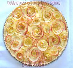 TORTA DI ROSE DI MELE CON CREMA AL CARDAMOMO- #cucinaparadiso #rose #mele #crema #cardamomo #apple #cream #cardamom