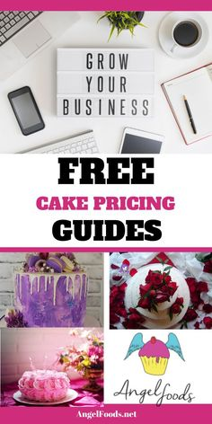 Trouble pricing your cakes?  Here's some help!  Free guides to get you started plus tons of free resources! Business Sales, Cake Business, Business Advice, Business School, Online Business, Business Angels, Cake Templates, Cake Pricing, Cake Online