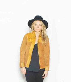 Vintage 60s Suede Leather Jacket by redpoppyvintageshop on Etsy, $42.00