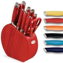 Fiestaware Knife Block In Fiesta Colors