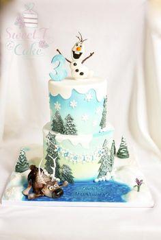 Original torta para fiesta de cumpleaños Frozen