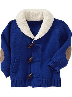 Toggle-Front Sweater Coats for Baby