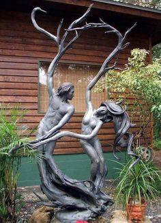 """PAUL A. BALIKER """"Dance"""" bronze garden sculpture"""