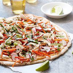 Chicken Banh Mi Pizza