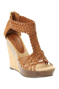 Bucco alamea Open Toe Wedge on HauteLook