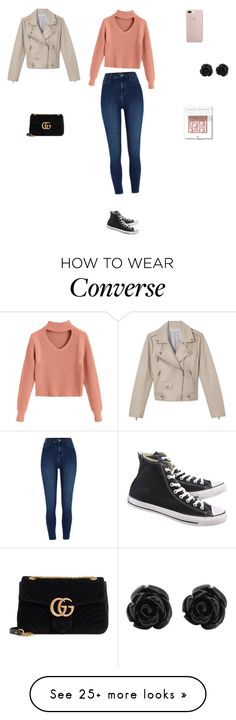 """Untitled #4524"" by smaranda-panfil on Polyvore featuring River Island, Converse, Gucci and Bobbi Brown Cosmetics"