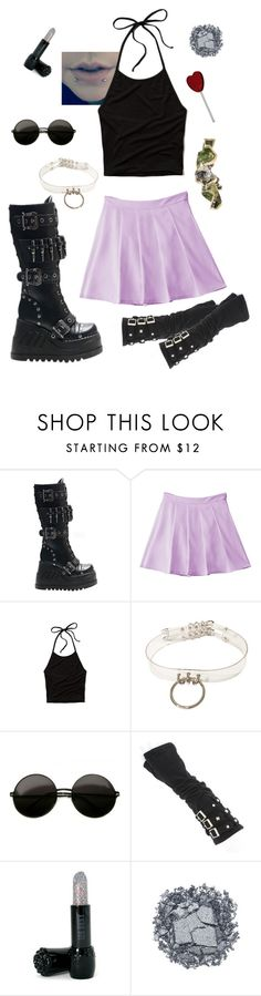 """""""Peroxide princess shine like shark teeth"""" by just-words-on-another-page ❤ liked on Polyvore featuring Demonia, Abercrombie & Fitch, ...Lost, Anna Sui, Urban Decay, women's clothing, women's fashion, women, female and woman"""