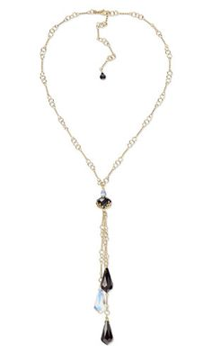 Single-Strand Necklace with SWAROVSKI ELEMENTS and 14Kt Gold-Filled Chain - Fire Mountain Gems and Beads