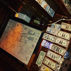 1 dollars at the wall in a bar in Dublin $$$ from all the guests  #bar #templebardistrict #dublin #january2017👣 #ireland🍀
