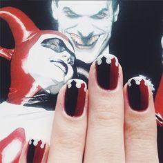 Harley Quinn #nails #nailart