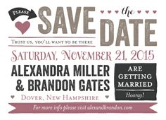 Save the Date Card - Story of Us