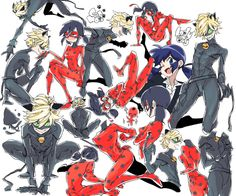 unclesporkums:  Conceptual art related to the upcoming French superheroine series, Miraculous: Tales of Ladybug and Cat Noir  This is fan art done by @obk_koy on twitter. They explicitly said they drew it (in Japanese) and does not seem to be affiliated with the project (they just like superheros-related things). Please take down the post or credit appropriately.