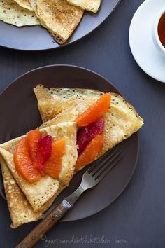 Grain-Free Crêpes with Honey Citrus Compote | Gourmande in the Kitchen