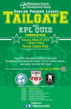 This event is for an excellent cause Milwaukee Soccer Development Group are doing fantastic things to promote the beautiful game within our city. Learn more here: https://www.facebook.com/events/1546222495603927/