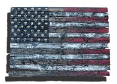 3D American Flag Limited Edition Grunge by ChrisKnightCreations, $340.00