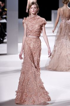 Elie Saab Spring 2011 Couture Fashion Show Collection: See the complete Elie Saab Spring 2011 Couture collection. Look 2 Beautiful Gowns, Beautiful Outfits, Gorgeous Dress, Couture Fashion, Runway Fashion, Look Fashion, Fashion Show, Fashion Design, Fashion Spring
