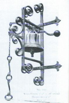 old iron french door bell   To copy from anothermanu0027s design is theft. To copy  sc 1 st  Pinterest & Antique S. YELLIN style Wrought IRON Door BELL Pull string c1900 ... pezcame.com