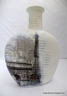Скрап-таинство: Декупаж на бутылке