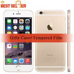 Unlocked Apple iPhone 6, 4G Smartphones,Free Case+Tempered Film, 16/64/128GB ROM, 4.7 inch Touchsceen, Grey Silver Mobile Phone  Price: 189.00 & FREE Shipping  #tech|#electronics|#gadgets|#lifestyle Buy Iphone 6, Apple Iphone 6, Mobile Phone Price, Maps Video, Mp4 Player, 4g Smartphones, Multi Touch, Tech Gadgets, Electronics Gadgets