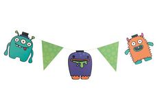 Monster Madness - Bunting