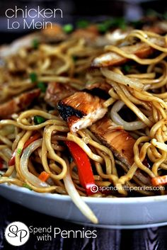 If you love take out you are definitely going to love this easy Chicken Lo Mein recipe.