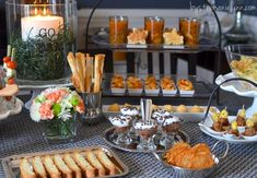 Game Day Party Table | Italian Pasta Bar, Buffet Style - bystephanielynn