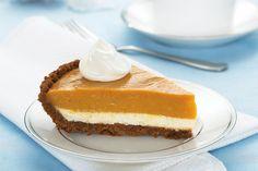 Kraft foods' two layer pumpkin pie Brownie Desserts, Oreo Dessert, Mini Desserts, Coconut Dessert, Pumpkin Dessert, Just Desserts, Delicious Desserts, Dessert Recipes, Yummy Food