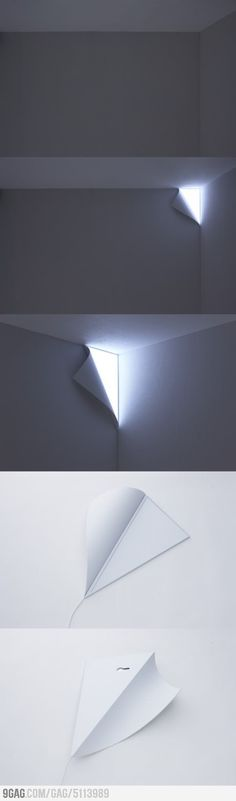 Such a cool light! Looks like the wall is peeling away to reveal light behind