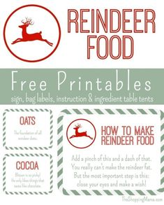 Reindeer food free printable for Christmas Eve. Your kids will love this Christmas Eve tradition! MomTrends.com #christmastradition #freeprintable #christmasprintable #reindeerfood #christmas