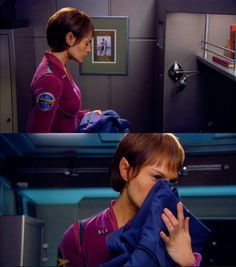 T'Pol misses Trip (these are the voyages)