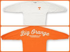 Sweeper Spirit Jerseys are comfy and so perfect for fall, Vol fans!  alumnihall.com -- I am going to need this!!