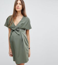 Browse online for the newest ASOS Maternity V Neck Column Mini Dress with Eyelet and Tie styles. Maternity Dresses Summer, Maternity Gowns, Stylish Maternity, Maternity Fashion, Maternity Style, Pregnancy Outfits, Pregnancy Tips, Nursing Clothes, Tie Styles